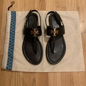 Tory Burch - Black Leather - Sandals - 8.5